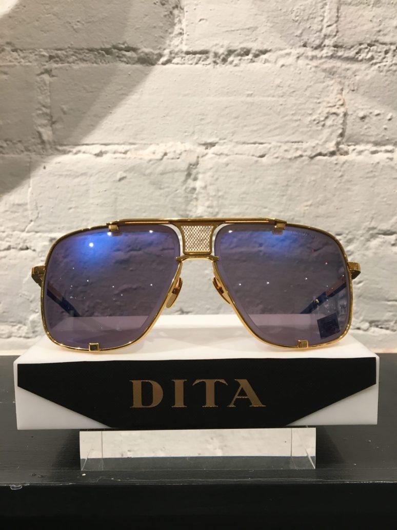 77dcb679143 Home   Men   Women Sunglasses   DITA Sunglasses – Mach Five – gold with  blue mirror lenses – Special